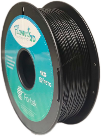 Filamento Pet-g 1,75 Mm 1kg - Preto (Black)