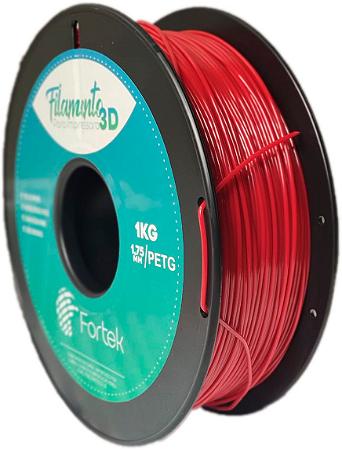 Filamento Pet-g 1,75 Mm 1kg - Vermelho (Red)