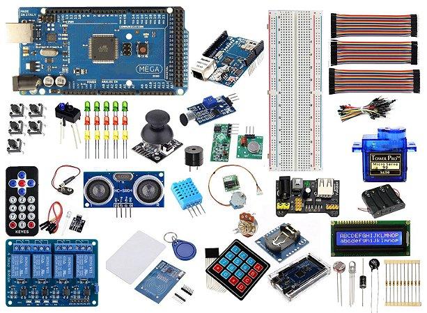 Kit Mega CH340 R3 Master Versão 2 Ethernet Wifi Automação Compatível Com Arduino