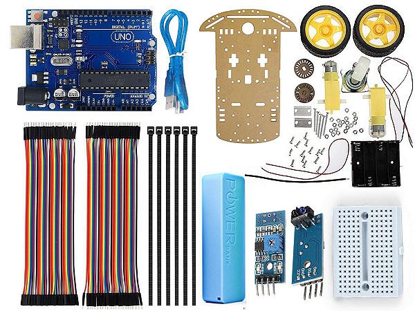 Kit Robô Seguidor De Linha Completo - Arduino compatível - DIY
