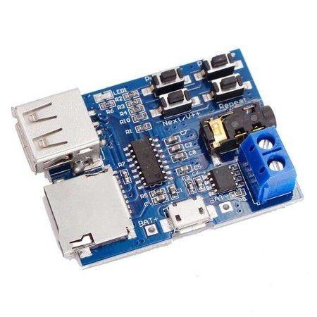 Módulo Amplificador Tf U Disco Mp3
