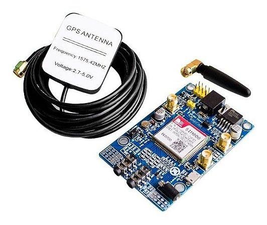 Módulo Gsm Gprs Quad-band Sim808 Com Gps Para Arduino