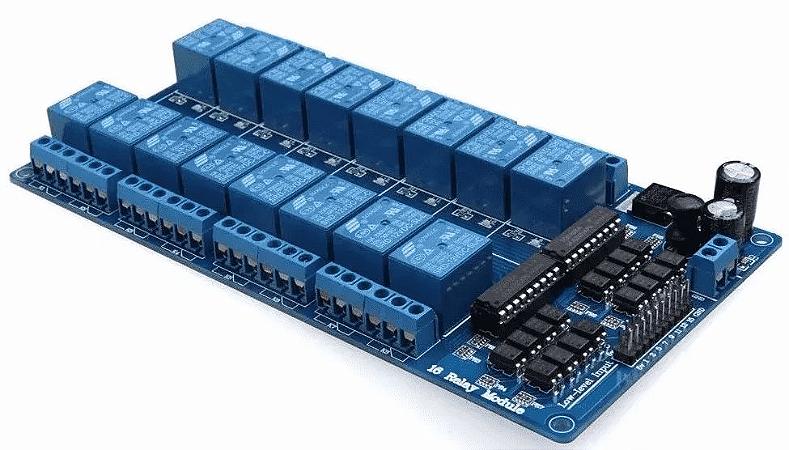 Módulo Relé 16 Canais 5v Com Optoacoplador Para Arduino