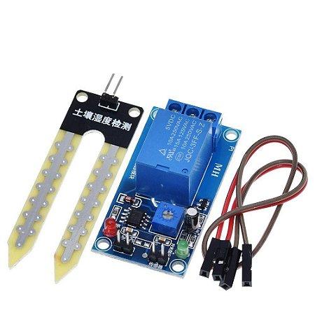 Módulo Sensor Umidade Do Solo Com Acionamento Relé 12v