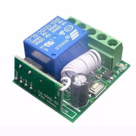 Receptor 433mhz 12v 1 Canal Relé Learning Code 1527