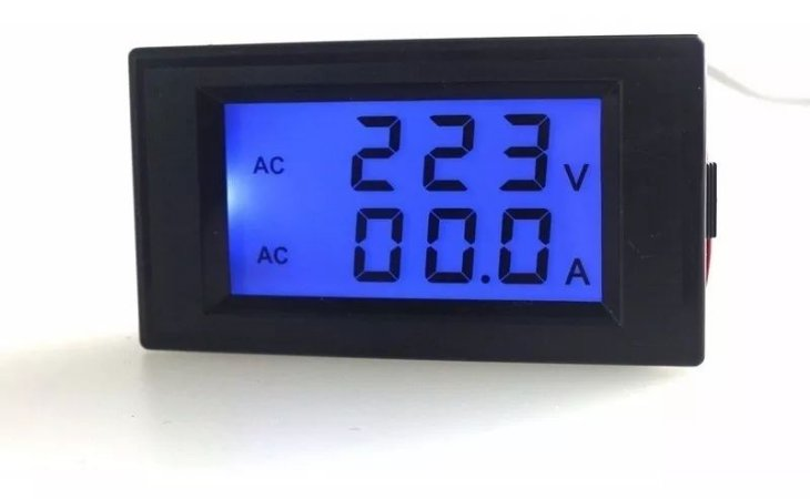 Voltímetro Amperímetro Rede Elétrica Ac 80-300v 100a + Tc