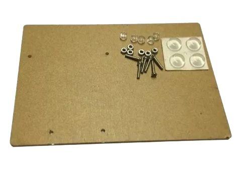 Base Acrílica Para Fixar Placa Arduino Uno e Protoboard