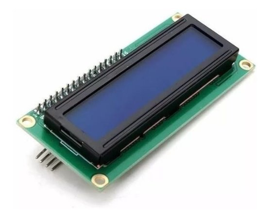 DISPLAY LCD 16X2 C/ BLACKLIGHT AZUL E I2C SOLDADO