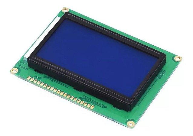 DISPLAY LCD GRÁFICO 128X64 C/ BLACKLIGHT AZUL
