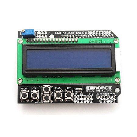 DISPLAY LCD SHIELD COM TECLADO 16X2 COM KEYPAD