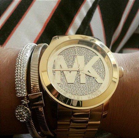ece32247f0e9e Relógio Feminino Michael Kors Mk5706 Dourado - Estilo Pontual
