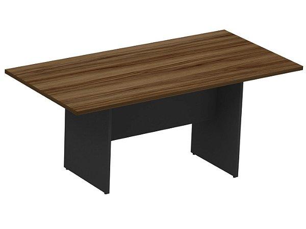 Mesa para Reuniões Retangular para Escritório com Pé de Madeira M30