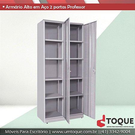 Armário de aço modelo professor com 2 portas - 200x90x40