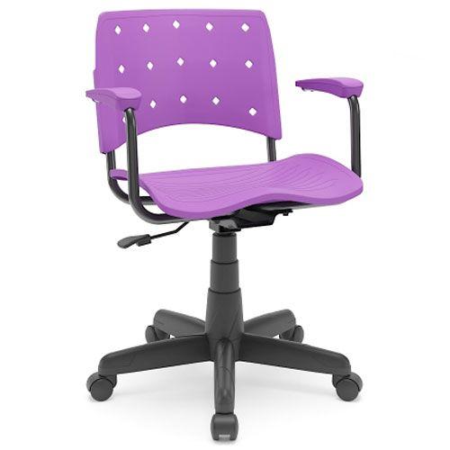 Cadeira Secretária Polipropileno Colorida Ergoplax