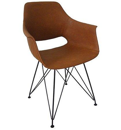 Cadeira Decorativa para Escritório ANM 1316 Caramelo ou Preto