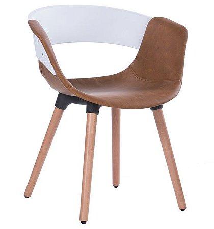 Cadeira Decorativa para Escritório ANM 6709 Caramelo ou Cinza