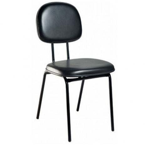 Cadeira Secretária Fixa para Escritório Pé Palito