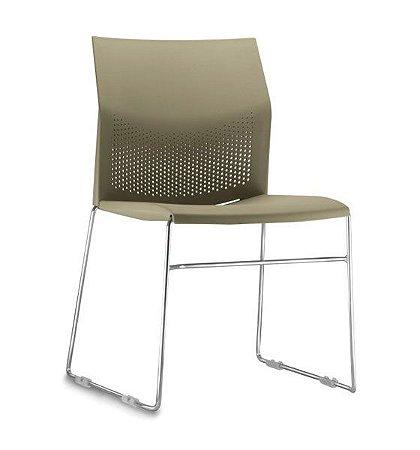 Cadeira Empilhável Fixa Connect