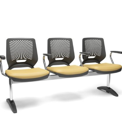 Cadeira Longarina Brizza Tela 2,3,4 e 5 Lugares