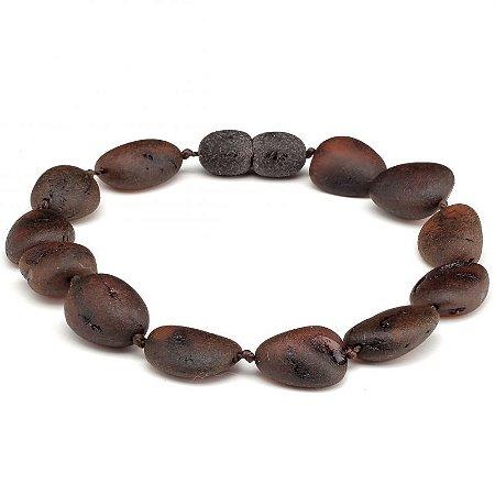 Pulseira de âmbar para adultos (19cm) - BLACK - beans bruto