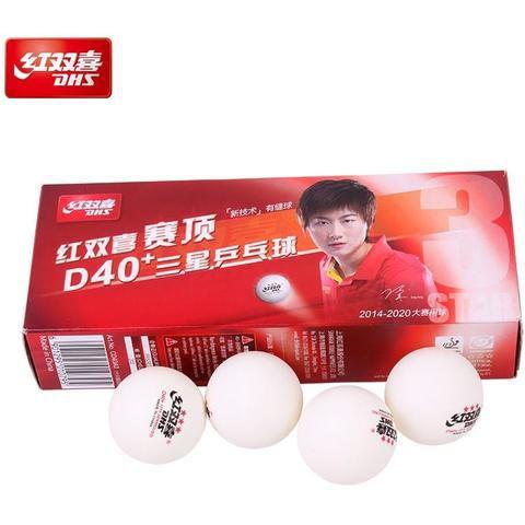 Bola Tênis de Mesa Plástico ABS - DHS  D40+ 3 Estrelas - 10 bolas