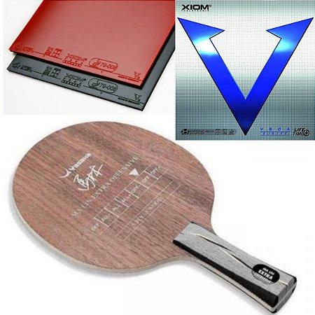 07b30b8d0 COMBO - Raquete Yasaka Ma Lin Extra Ofensive + 02 Borrachas Xiom Vega +  Sidetape