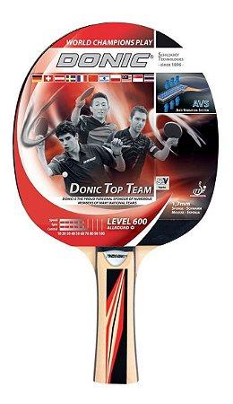 Raquete Tênis De Mesa  Clássica - Donic Top Team 600