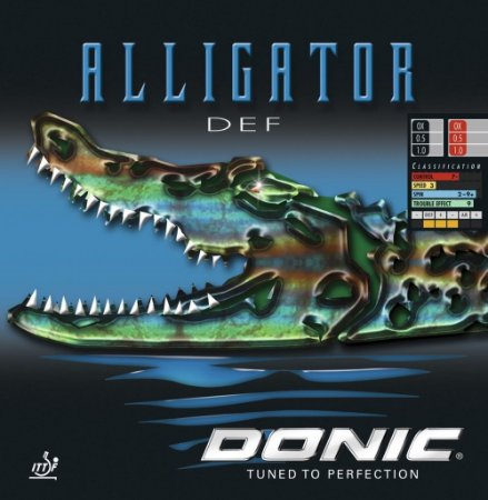Borracha Pino Longo Defesa - Donic Alligator Def Com Esponja