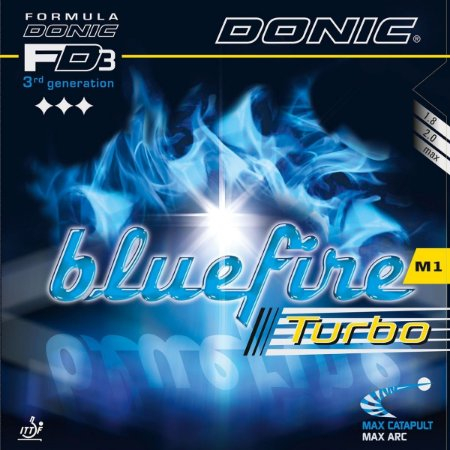Borracha Donic - Bluefire M1 Turbo Tensionada