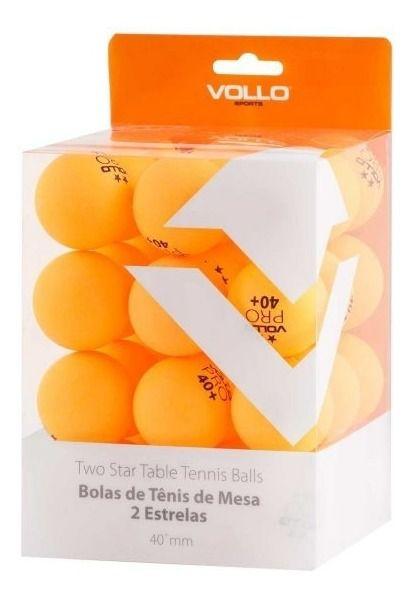 36 Bolas Plástico 40+ Tênis De Mesa - Vollo 2 Estrelas Plástico Abs