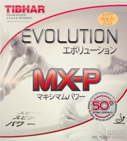 Borracha Thibar - Evolution Mxp 50° Graus Tênis Mesa