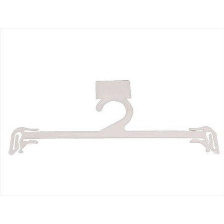 Cabide Plástico Lingerie Branco - 12 unid.