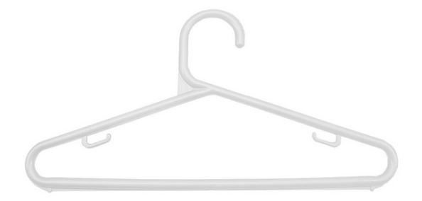 Cabide Plástico Infantil Branco - 12 unid.