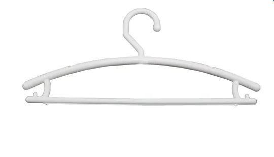 Cabide Plástico Boutique Branco - 12 unid.