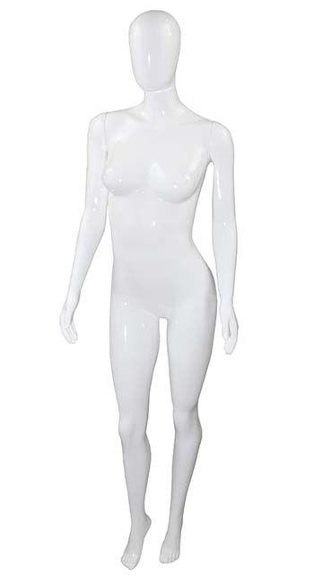Manequim Feminino Brilhante Branco