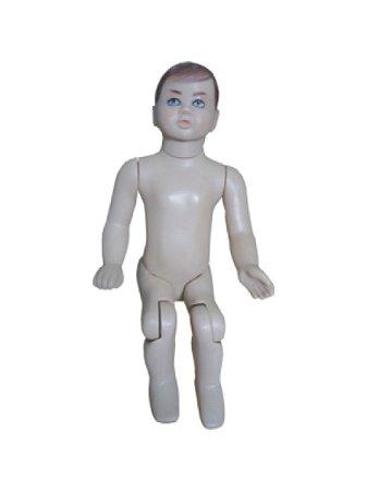 Manequim Bebê Masculino Articulado Bege