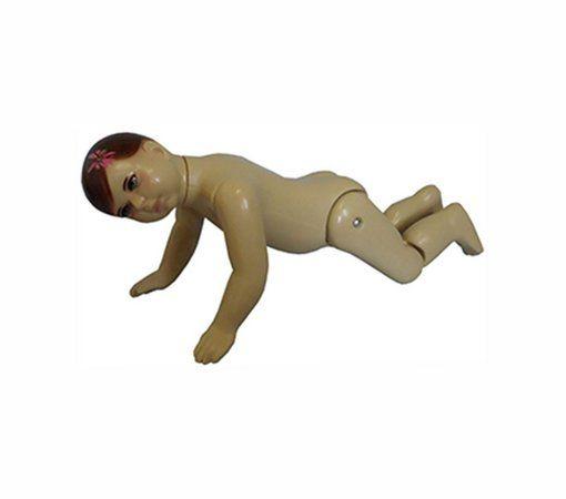Manequim Bebê Feminino Articulado Bege