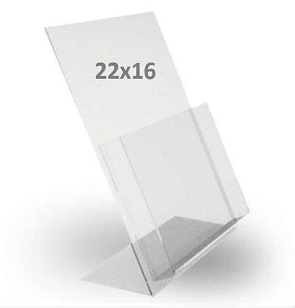 Porta Folder Acrílico - tam. M