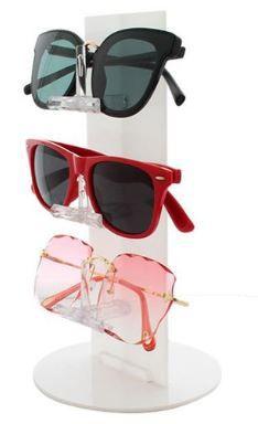 Expositor de Óculos Acrílico Torre - 3 óculos