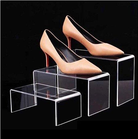 Expositor de Sapato Acrílico Triplo