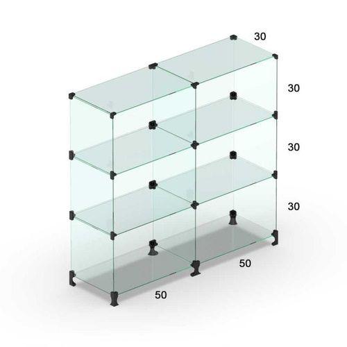 Balcão de Vidro 100L x 90A x 30P cm