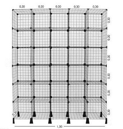 Balcão de Tela 150L x 180A x 30P cm