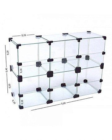 Baleiro de Vidro 60L x 40A x 20P cm