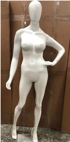 Manequim Feminino Fibra Pose Pérola