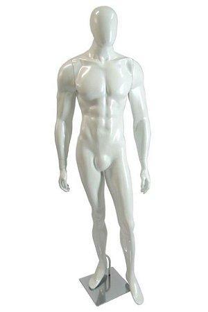 Manequim Masculino Fibra Branco