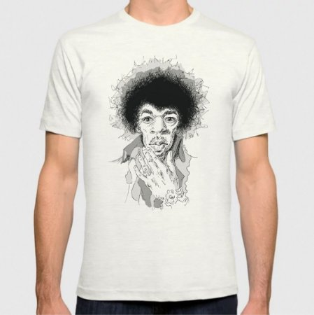 Jimi Hendrix  - by Mad Music - T-Shirt