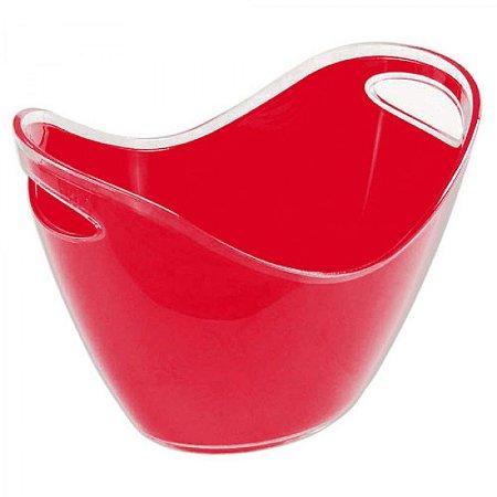 Balde de gelo Champanheira barco em acrílico vermelha