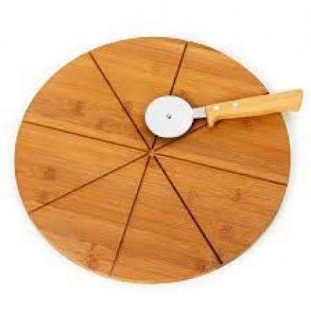 Tábua para servir Pizza e cortador