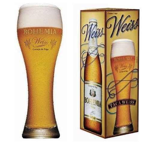 Copo bohemia weiss, para cerveja- 670ml