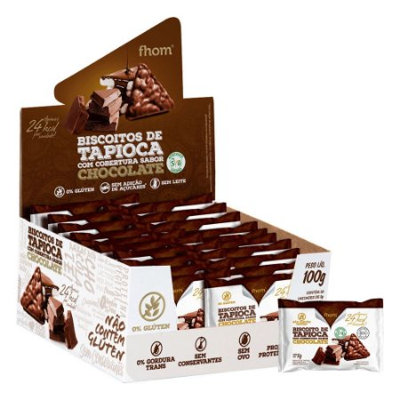 Biscoito de Tapioca com Chocolate Display 20x5g